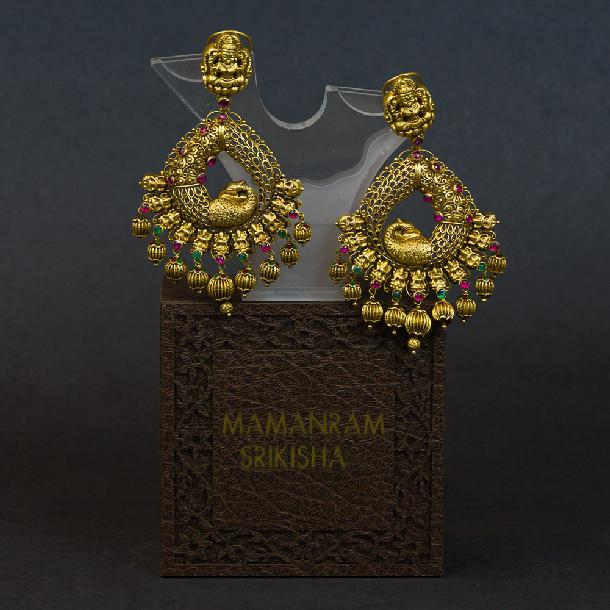 Ear Rings by Mamanram Srikishan Jewellers and Pearls