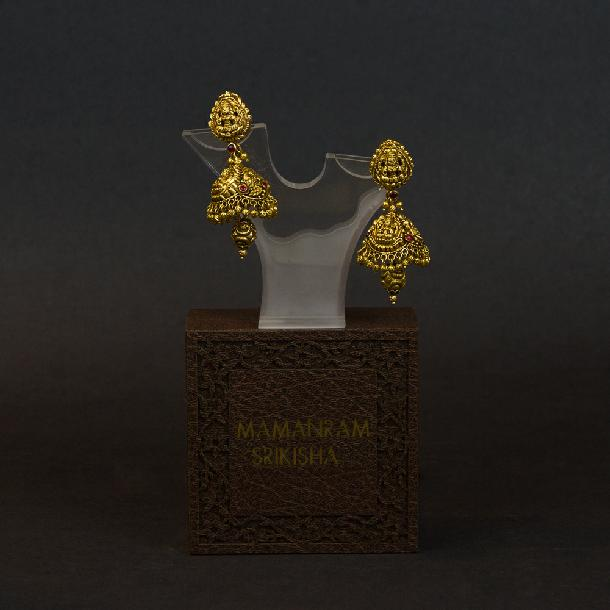 Jhumki Ear Rings by Mamanram Srikishan Jewellers and Pearls
