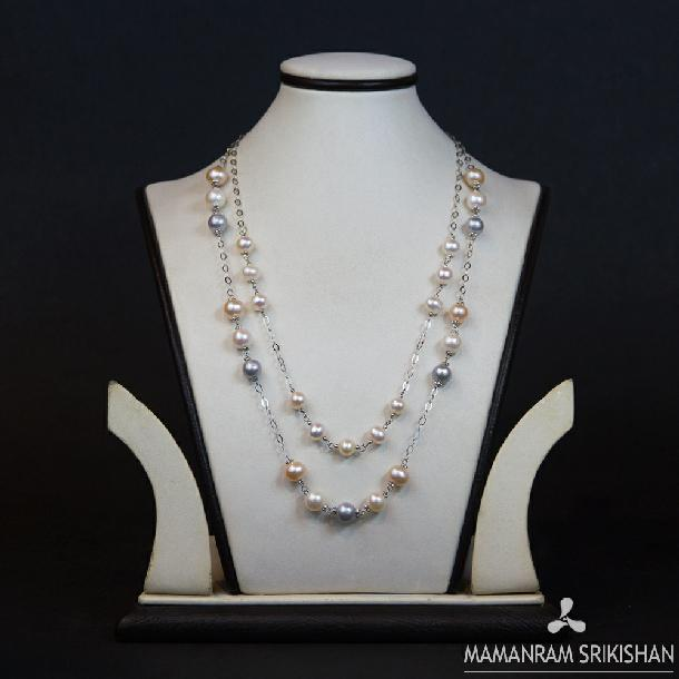 Pearl Mala by Mamanram Srikishan Jewellers and Pearls
