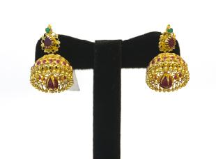 Jhumki Ear Rings by South India Jewellers