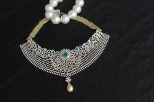 Diamond Choker by MOR JEWELLERS
